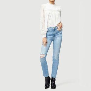 FRAME Le Sylvie High rise slender straight jean